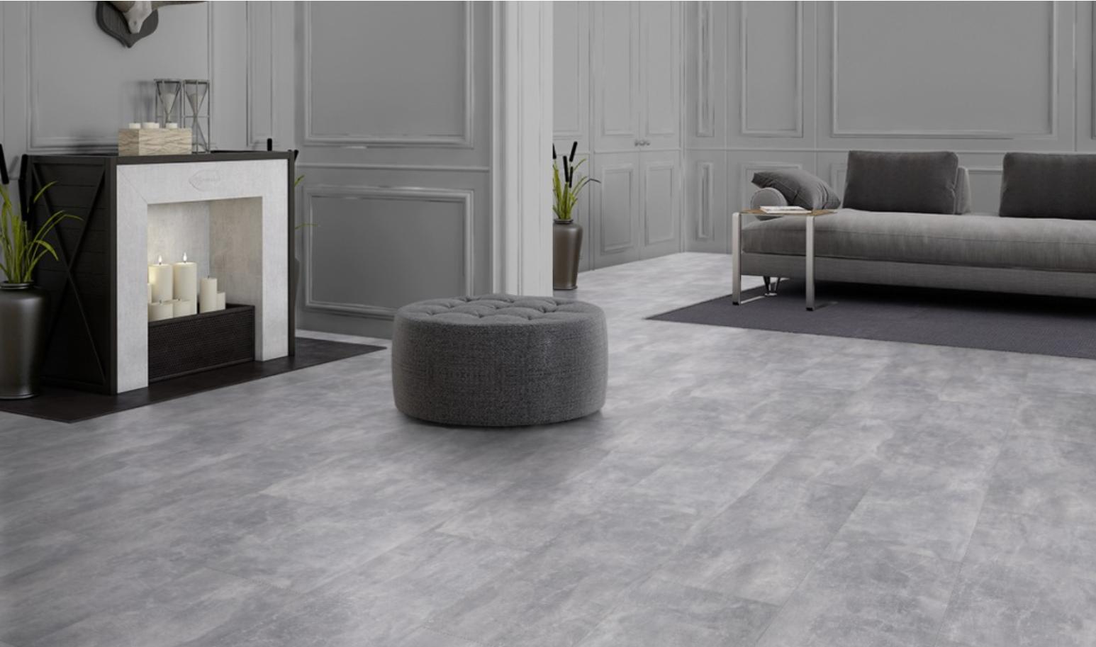 Betoon Look Vloer : Visio grande grijs beton look tegel laminaat directfloor